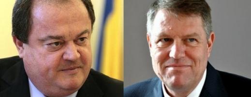 Liderii PDL şi PNL Vasile Blaga şi Klaus Iohannis