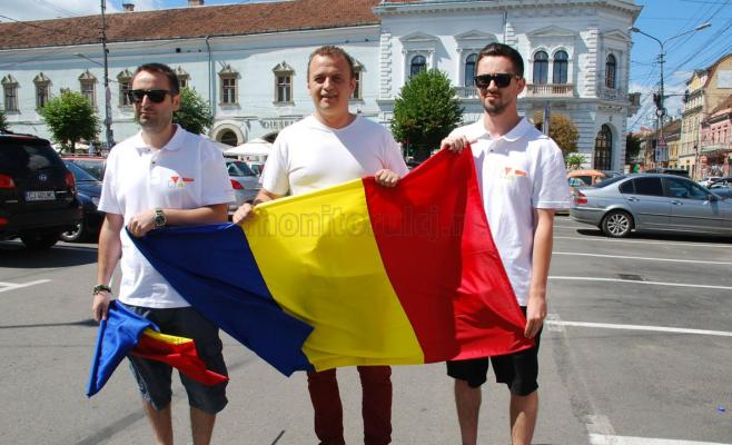 de la stânga la dreapta Dan Ciulea, Florin Moroşanu şi Gabriel Aldea