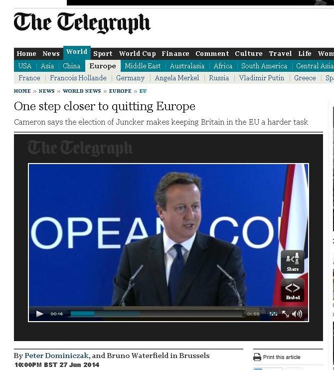 """""""Un pas în plus spre ieşirea din UE"""