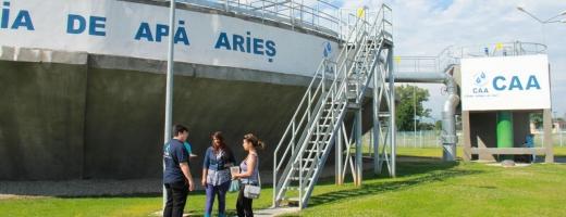 (P) Elevii din Turda, în vizită la Compania de Apă Arieş