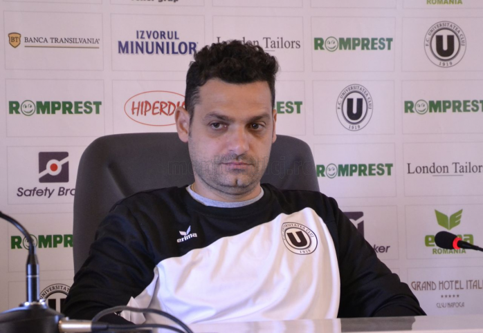 Mihai Teja, antrenor Universitatea Cluj
