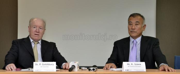 Peter Goldsbury Sensei - Japonia, președinte IAF și Kei Izawa Sensei - SUA, secretar general IAF