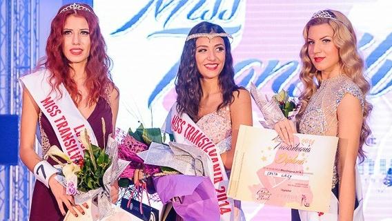 primele trei clasate în competiția Miss Transilvania 2014