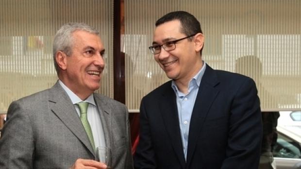 Călin Popescu Tăriceanu și Victor Ponta. Sursă foto: Gândul.info