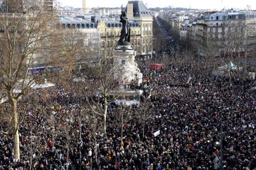 Marșul de la Paris împotriva terorismului (2015). Sursă foto: www.20minutes.fr