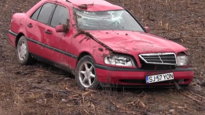 Accident rutier în localitatea clujeană Coplean. Foto: Captură video