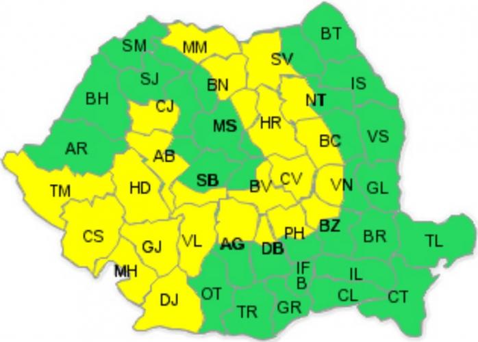 Se întoarce iarna? Cod galben de NINSOARE în Cluj