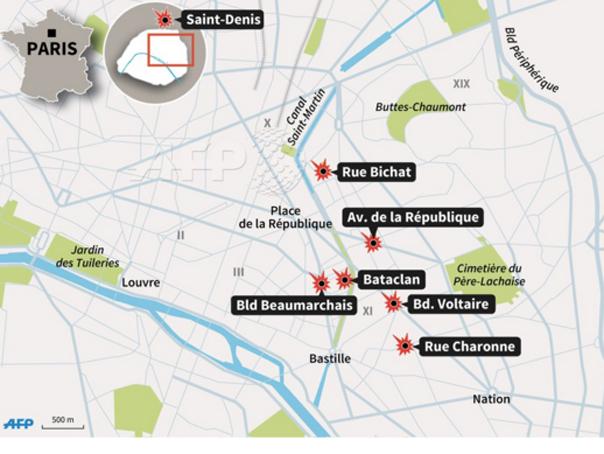 Harta Atacurilor De Vineri De La Paris și Cronologia Ultimelor