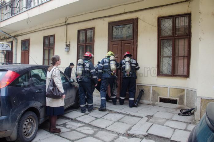 Interventie pompieri Eroilor