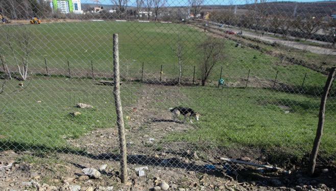 Aşa arată locul de joacă din Gheorgheni după ce a fost distrus de muncitori