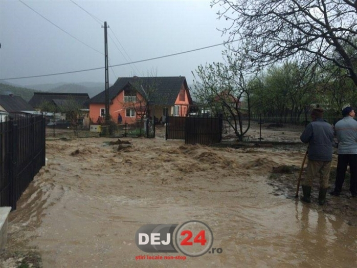 Inundații la Dej. Foto: www.dej24.ro