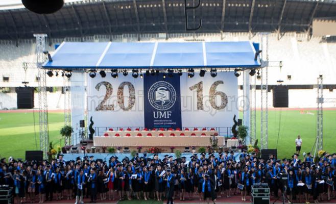 Festivitatea de absolvire UMF Cluj, promoţia 2016. Foto Saul Pop