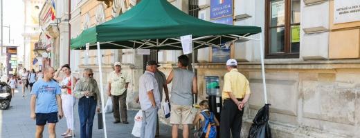 Canicula a pus stăpânire pe Cluj