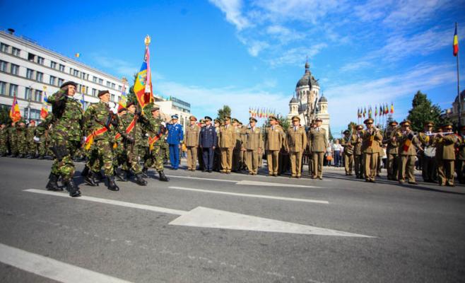 Divizia 4 Infanterie Gemina a sărbătorit miercuri 100 de ani de existenţă. Foto Saul Pop