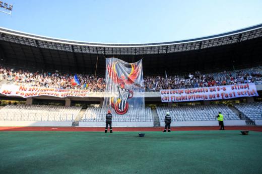 Bannerul din peluza U Cluj