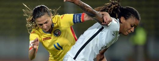 Florentina Olar (în galben) este liderul de selecții în echipa națională a României. FOTO frf.ro