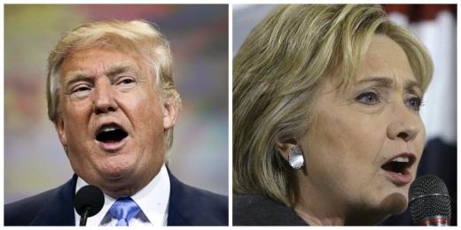 Donald Trump, candidatul Partidului Republican şi Hillary Clinton, candidatul Partidului Democrat la alegerile prezienţiale din SUA. FOTO al.com
