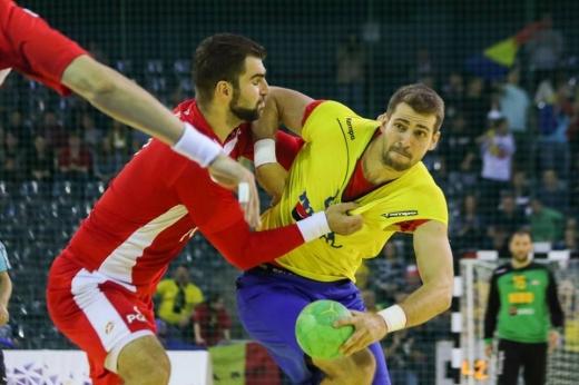 Ionuţ Ramba a marcat 5 goluri cu Polonia la Cluj. FOTO Cristian Cosma / Facebook Federaţia Română de Handbal