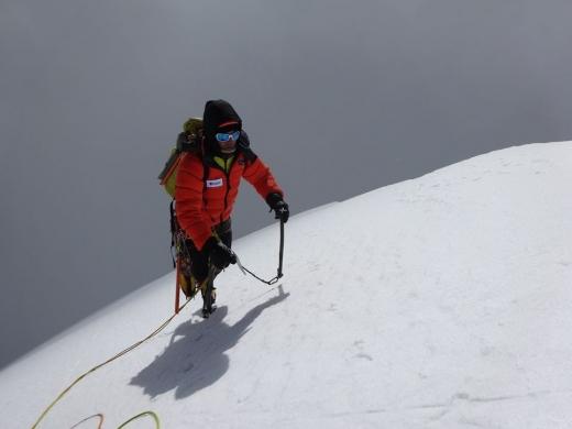 Vlad Căpușan pe muntele Himalaya. Sursa foto: Vlad Căpușan Facebook