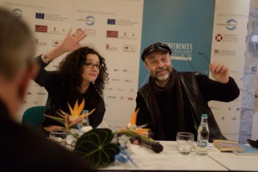 Cristina Modreanu şi Gábor Tompa, la evenimentul de lansare găzduit de Casa TIFF. FOTO Interferenţe