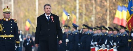 Preşedintele Klaus Iohannis, la festivităţile organizate de Ziua Naţională a României. FOTO Facebook