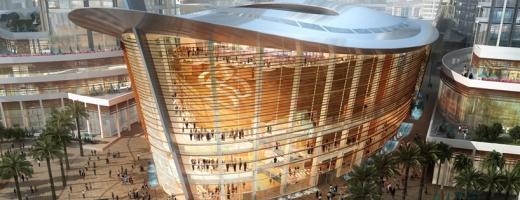 FOTO Opera din Dubai și designul ei futurist. FOTO EMAAR / designboom.com