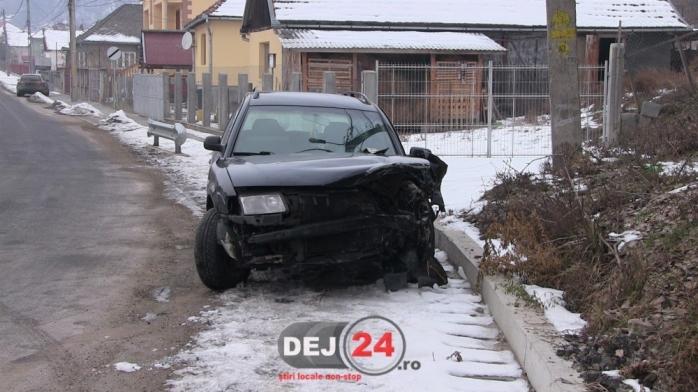 accident pompier dej sursa foto dej24.ro