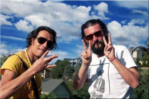 Ionuţ Caras (în dreapta) şi Cristian Grosu. Facebook Ionuţ Caras