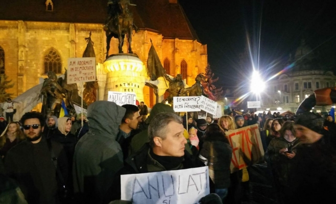 Protest Cluj-Napoca legea gratierii si amnistiei