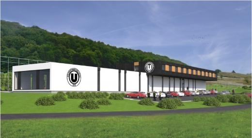 Baza sportivă care ar urma să fie realizată în Sălicea va dispune de trei terenuri de fotbal, spaţii de cantonament, vestiare, sală de forţă, restaurant şi cabinet medical. FOTO Mapă de proiect