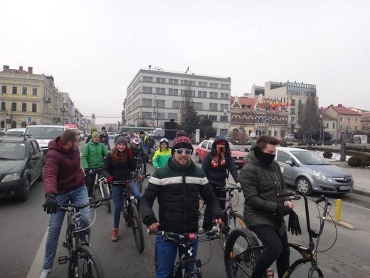 Imagine genrică, de la marşul organizat în luna ianuarie / FOTO Clubul de Cicloturism Napoca