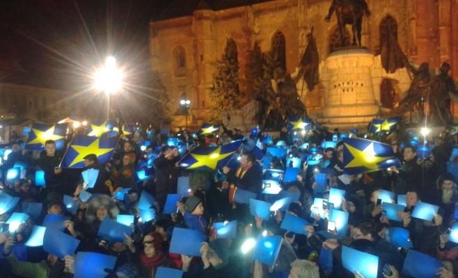 Clujenii au format duminică steagul UE