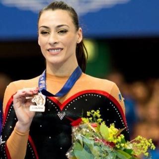 Cătălina Ponor a participat şi la Olimpiada de la Rio din 2016, unde s-a clasat a şaptea la bârnă. FOTO Facebook Cătălina Ponor