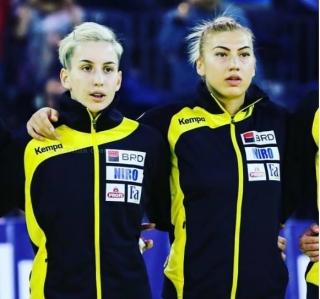Laura Popa (în dreapta) şi Cristina Laslo, reprezentantele României în dubla cu Spania