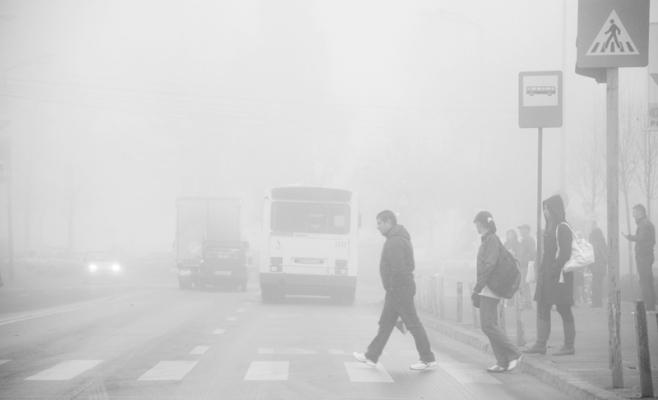 Ceata determina scaderea vizibilitatii in trafic