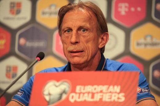 Christoph Daum are în palmares o victorie şi trei egaluri la cârma naţionalei tricolore. FOTO Arhivă Monitorul