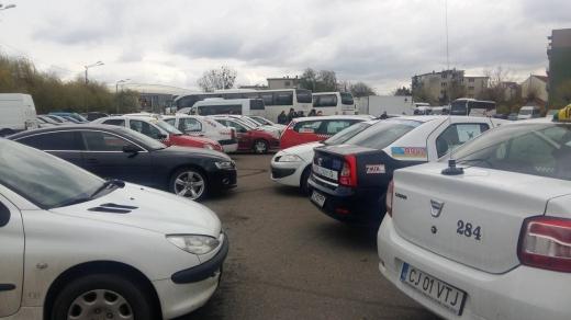 protest taximetristi sursa foto radiocluj.ro