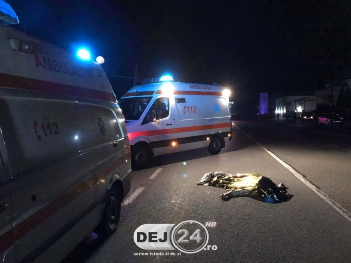 ACCIDENT MORTAL la Iclod. Un pieton a fost izbit în plin de o mașină sursa foto dej24.ro