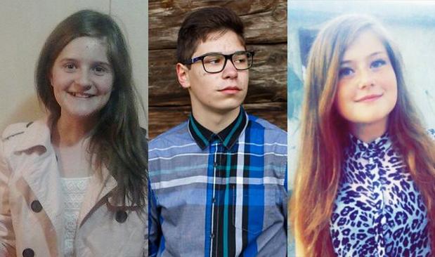 de la stanga la dreapta Andreea Tămaş, Mihai Nagy şi Emanuela Turdean