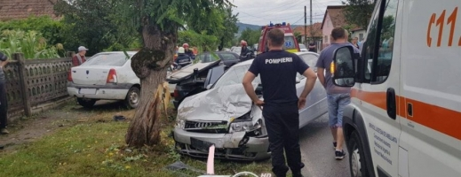 ACCIDENT MORTAL la Gherla, din cauza neacordării de prioritate  sursa foto dej24.ro
