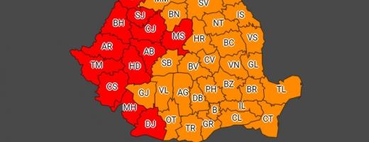 COD ROŞU de caniculă la Cluj. Temperaturile vor fi între 39 şi 42 de grade.