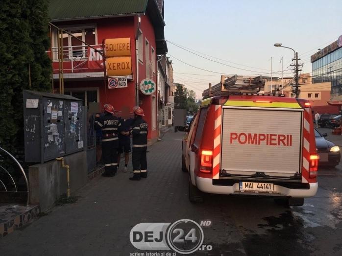 Incendiu la un magazin din Dej sursa foto dej24.ro