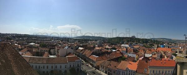 INEDIT. Clujul, aşa cum nu l-ai văzut niciodată! Panorame incredibile cu oraşul văzut din cel mai înalt turn.   Primăria veche
