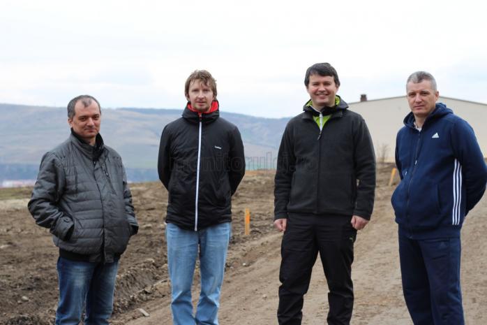 De la stânga la dreapta: Romulus Nechit, Levente Florișca, Alin Timiș, Torja Cozmin