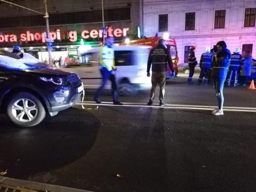 Accident grav in centrul Clujului. Foto: Dan Porcuțan