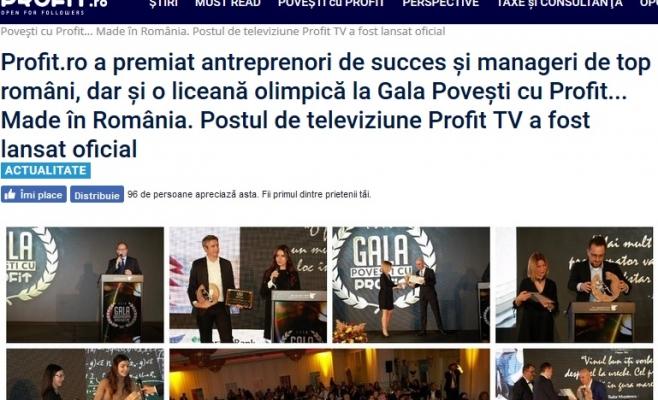 Lansarea televiziunii ProfitTV