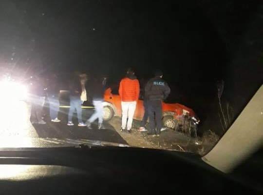 3 mașini au ieșit în decor pe drumul Chinteni-Vultureni. Foto: Facebook Radio Cluj