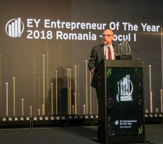 Ovidiu Șandor, CEO Mulberry Development, a primit titlul de Antreprenorul anului 2018 în România