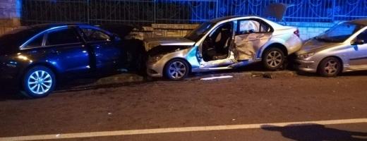 Accident pe strada Miklos Zriny, în Andrei Mureșanu. Foto Facebook.com/Alex Alexandru