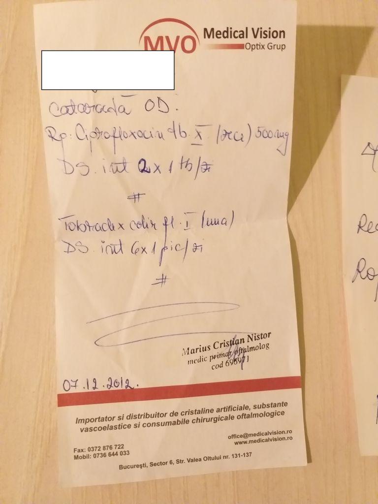Un fals medic oftalmolog din Cluj Napoca ar fi operat, timp de 10 ani, fără să aibă acest drept